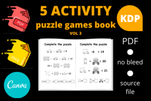 Print on Demand: 5 Activity Puzzle Games Book for Kids V3 Graphic KDP Interiors By Dunkyshot