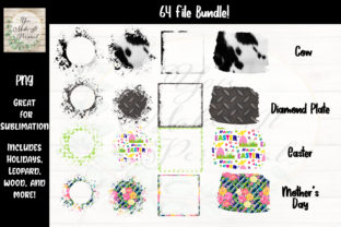 Print on Demand: 64 Sublimation Backgrounds and Frames Graphic Crafts By You Make It Personal