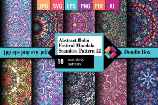 Abstract Mandala Seamless Pattern Vol.12 Graphic Patterns By DoodleBox