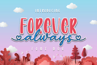 Print on Demand: Always Forever Script & Handwritten Font By Graphix Line Studio