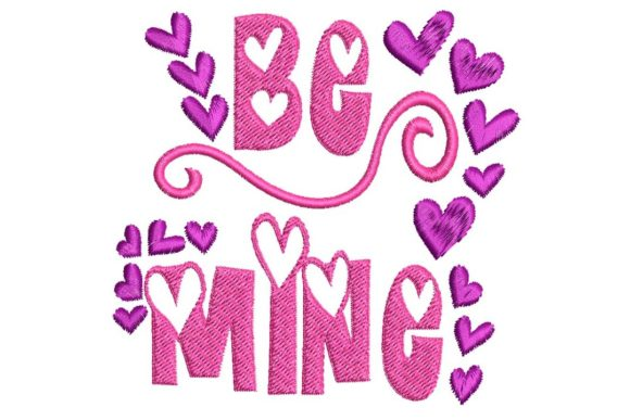 Be Mine Valentine's Day Embroidery Design By BabyNucci Embroidery Designs