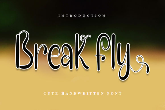 Print on Demand: Break Fly Script & Handwritten Font By Inermedia STUDIO