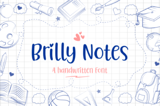 Print on Demand: Brilly Notes Script & Handwritten Font By Situjuh