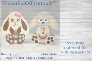 Bunny Chocolate Holder Digital Template Graphic 3D SVG By PocketFulOfPrintouts