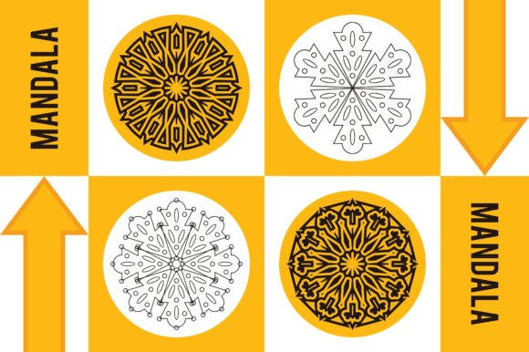 Color Mandala Set #1241 Graphic Patterns By LuckUp! Creative