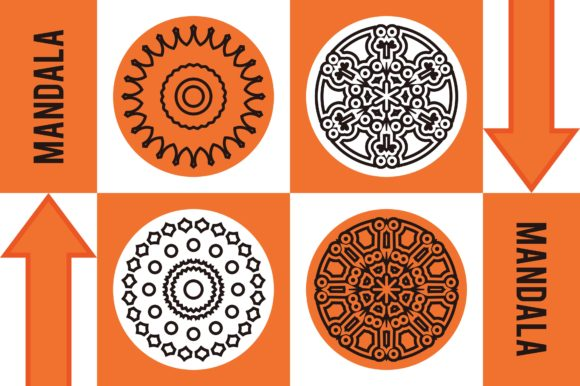 Color Mandala Set #1242 Graphic Patterns By LuckUp! Creative