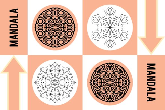 Color Mandala Set #1243 Graphic Patterns By LuckUp! Creative