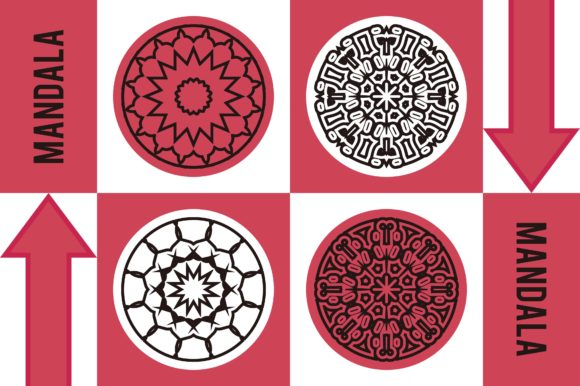 Color Mandala Set #1244 Graphic Patterns By LuckUp! Creative