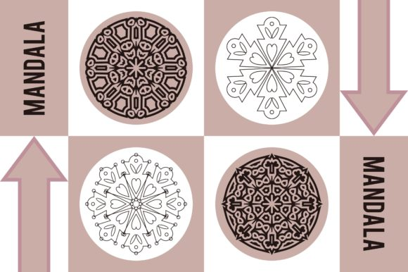 Color Mandala Set #1245 Graphic Patterns By LuckUp! Creative