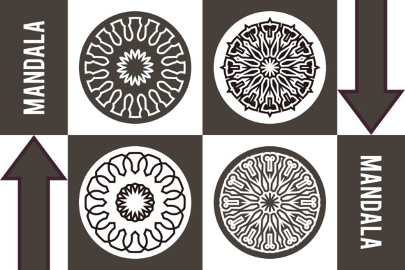 Color Mandala Set #1246 Graphic Patterns By LuckUp! Creative