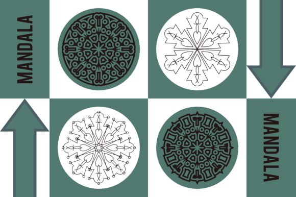 Color Mandala Set #1247 Graphic Patterns By LuckUp! Creative