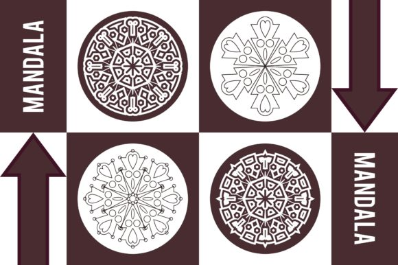 Color Mandala Set #1249 Graphic Patterns By LuckUp! Creative