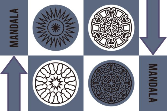 Color Mandala Set #1250 Graphic Patterns By LuckUp! Creative