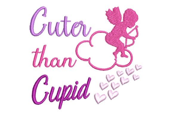 Cuter Than Cupid Valentine's Day Embroidery Design By BabyNucci Embroidery Designs