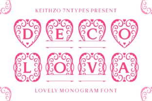 Print on Demand: Deco Lova Decorative Font By Keithzo (7NTypes)