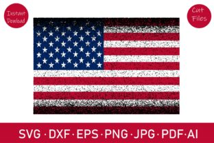 Distressed Flag, American Flag Graphic Crafts By Rizu Designs