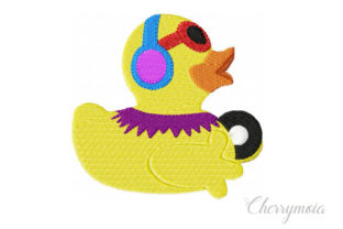 Dj Rubberduck Toys & Games Embroidery Design By CherrymoiaEmbroidery