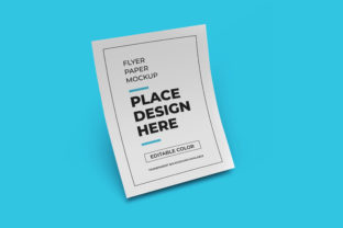 Print on Demand: Flyer Paper Mockup Photoshop Template Graphic Product Mockups By dendysign