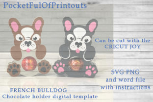 French Bulldog Chocolate Holder Template Graphic 3D SVG By PocketFulOfPrintouts