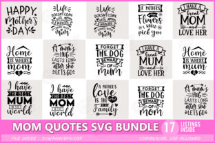 Funny Mom Quotes SVG Bundle Graphic Print Templates By Craftingstudio