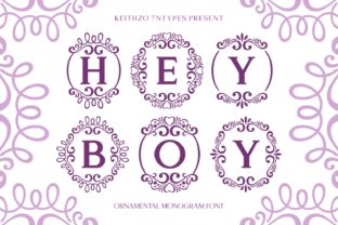 Print on Demand: Hey Boy Decorative Font By Keithzo (7NTypes)