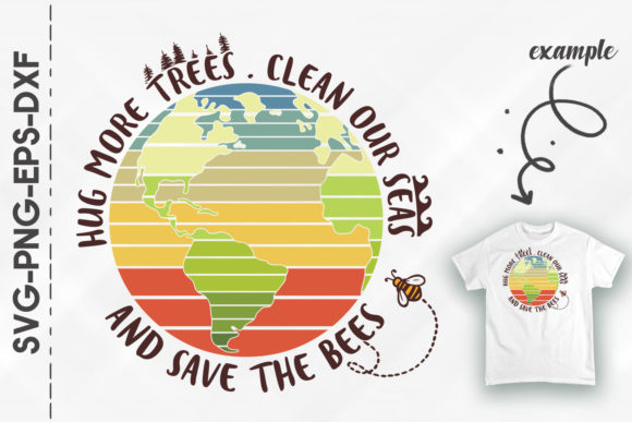 Download Hug More Trees Clean Seas Save the... SVG Cut Files