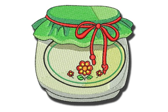 Jam Jar Food & Dining Embroidery Design By BabyNucci Embroidery Designs