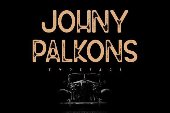Print on Demand: Johny Palkons Display Font By Prioritype