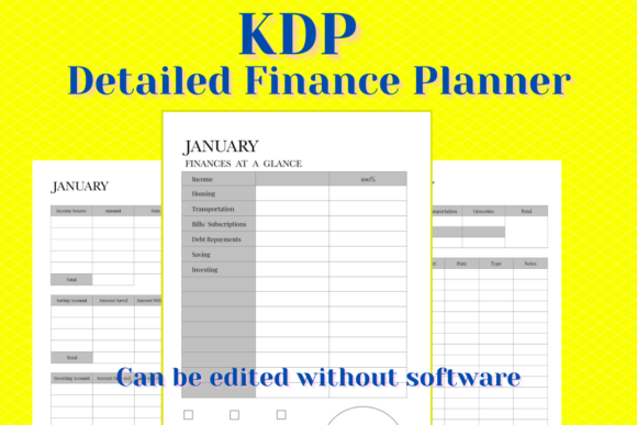 Print on Demand: KDP Detailed Finances Planner Graphic KDP Interiors By Income Plum