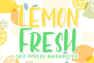 Print on Demand: Lemon Fresh Display Font By FatmaStudio