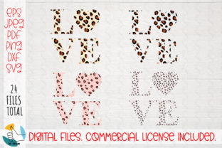 Print on Demand: Love Leopard Print SVG. Animal Heart SVG Graphic Crafts By OK-Design