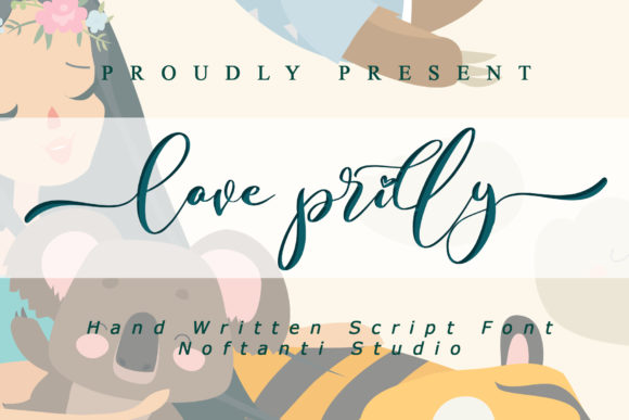 Print on Demand: Love Prilly Script & Handwritten Font By noftanti