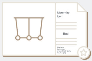Maternity Icon -  Bed Graphic Icons By noumineomi
