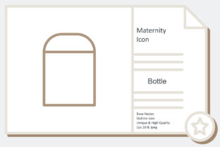Maternity Icon -  Bottle Graphic Icons By noumineomi