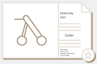 Maternity Icon -  Cutter Graphic Icons By noumineomi