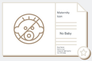 Maternity Icon -  No Baby Graphic Icons By noumineomi
