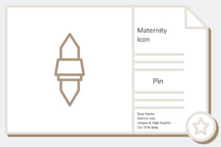 Maternity Icon -  Pin Graphic Icons By noumineomi