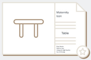 Maternity Icon -  Table Graphic Icons By noumineomi