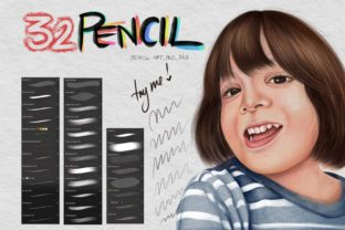 Pencil Procreate Brush Graphic Brushes By tasmalee.art