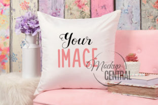 Pretty Square Living Room Mockup Pillow Graphic Product Mockups By Mockup Central