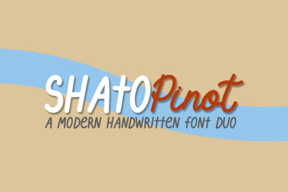 Print on Demand: Shato Pinot Duo Script & Handwritten Font By Masha Artifex