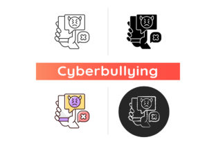 Print on Demand: Social Media Cyberbullying Icon Graphic Icons By bsd studio