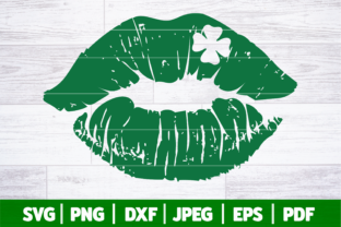 St Patrick's Day Lips SVG Graphic Crafts By SeventhHeaven Studios