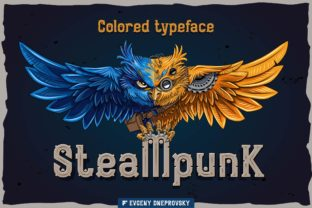Print on Demand: Steampunk Color Fonts Font By Fractal font factory