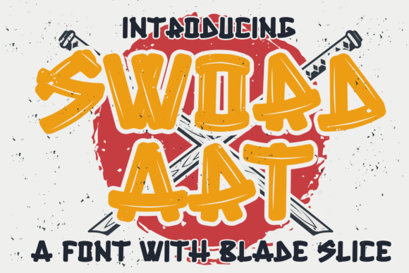 Print on Demand: Sword Art Display Font By sipanji figuree