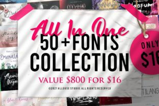 Print on Demand: The All in One Fonts Collection Bundle By allouse.studio
