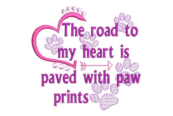 The Road to My Heart Valentine's Day Embroidery Design By BabyNucci Embroidery Designs