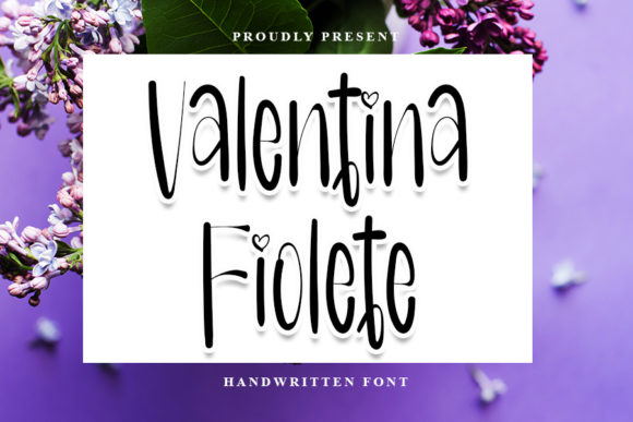 Print on Demand: Valentina Fiolete Script & Handwritten Font By Inermedia STUDIO