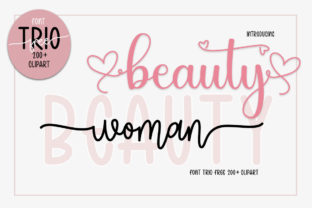 Print on Demand: Woman Beauty Script & Handwritten Font By Fillo Graphic