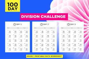 Print on Demand: 100 Day Division Math Worksheets Graphic 1st grade By Riduwan Molla